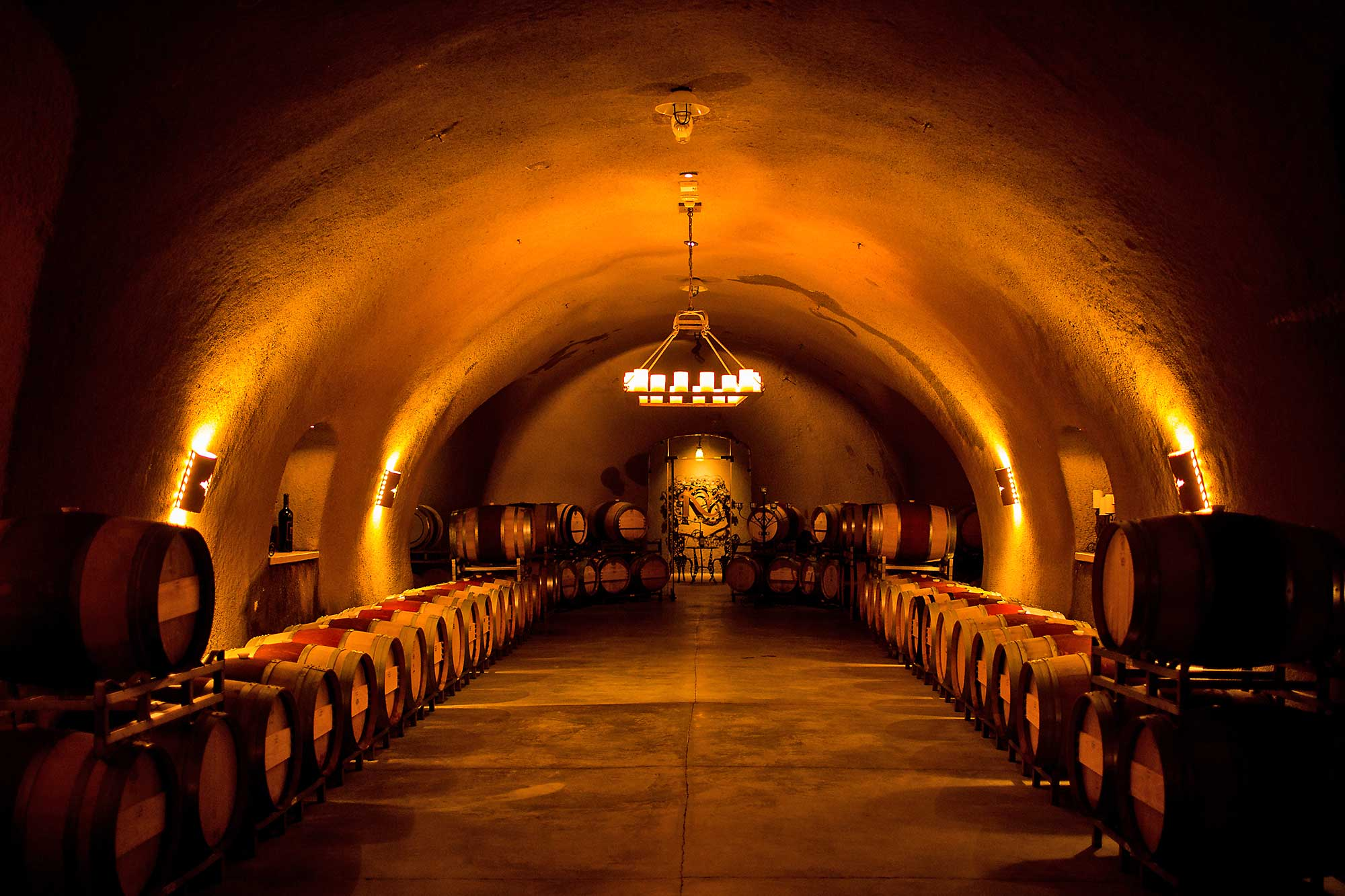 the wine cave at Keever Vineyards in Yountville, California