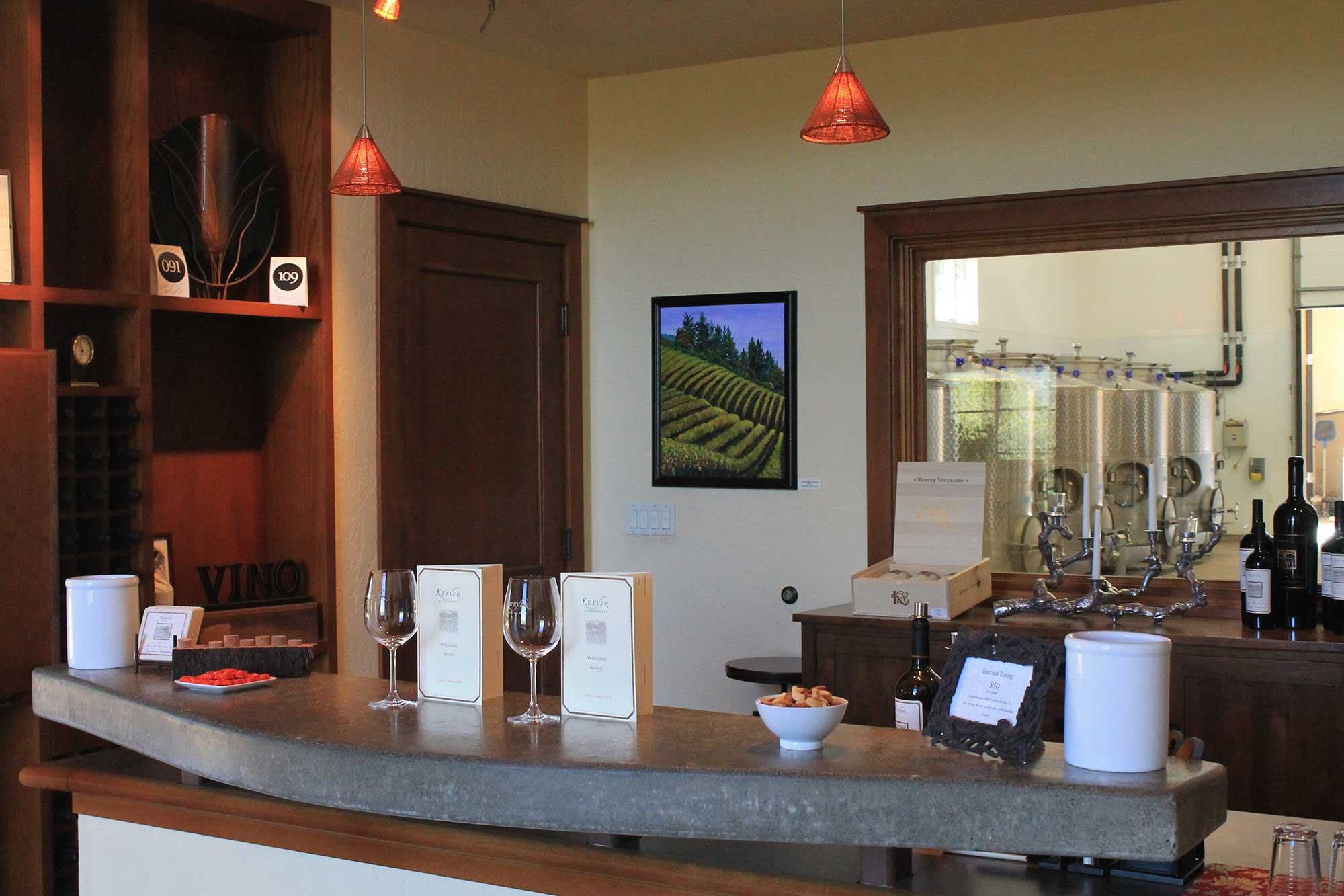 Tasting Room at Keever Vineyards in Yountville, California